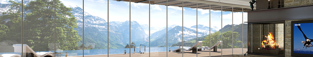 Straight Glass Door Systems  - Glass Expanse