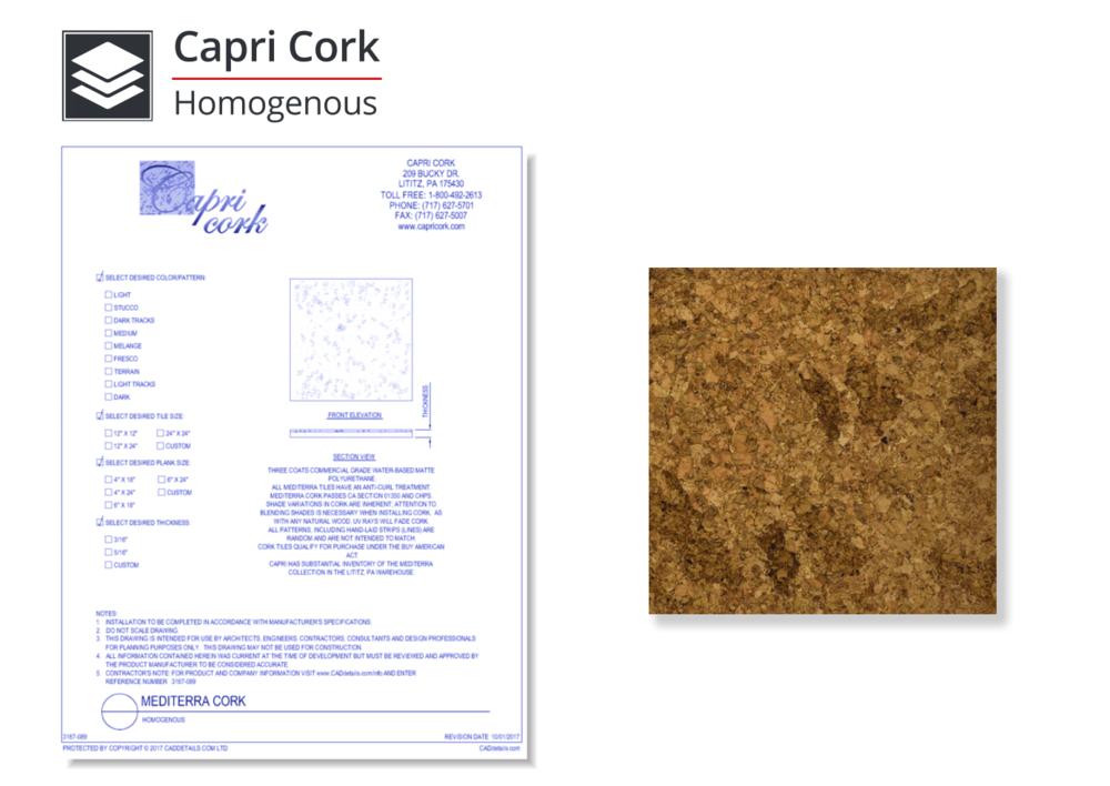 3167-089 Mediterra Cork Flooring - Homogenous