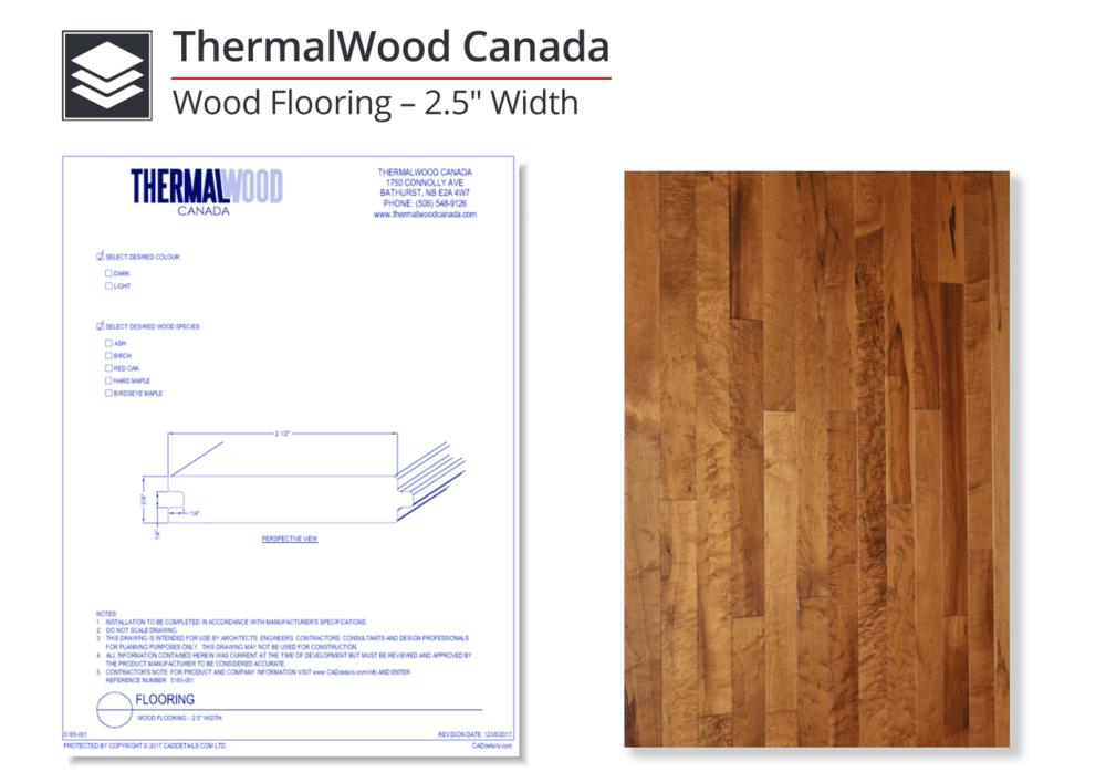 """5165-001 Wood Flooring - 2.5"""" Width"""