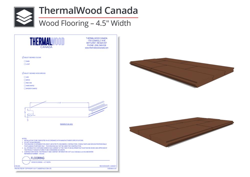 """5165-003 Wood Flooring 4.5"""" Width"""