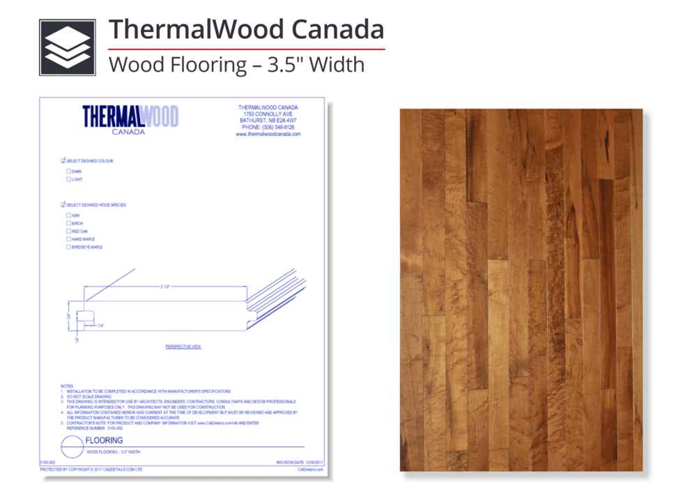 """5165-002 Wood Flooring 3.5"""" Width"""