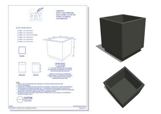4898-004 Custom Cube Planter