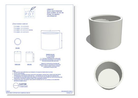 4898-007 Custom Cyliinder Planter