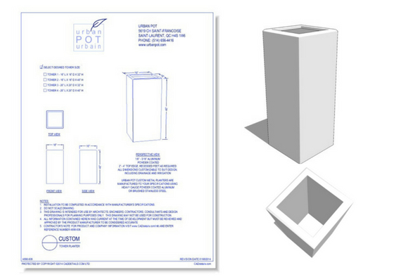 4894-006 Custom Tower Planter