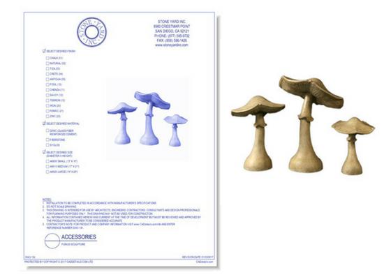 5043-134 Fungo Sculpture