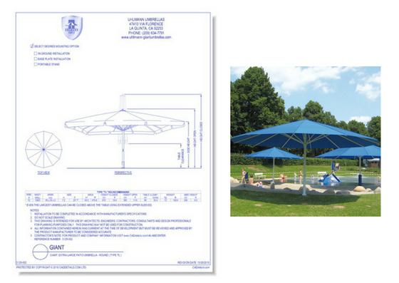 5129-002 Extra Large Patio Umbrella