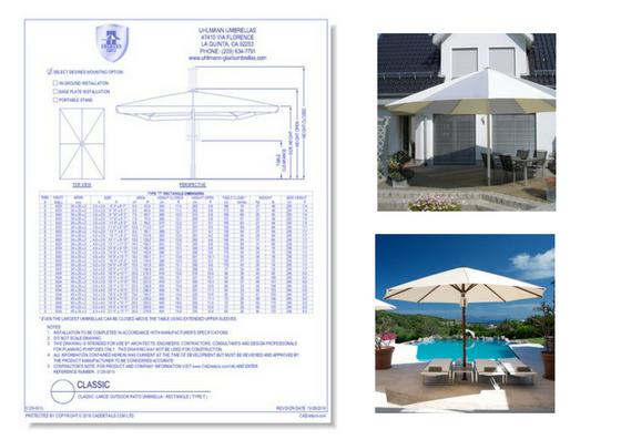 5129-001b Classic Large Outdoor Patio Umbrella