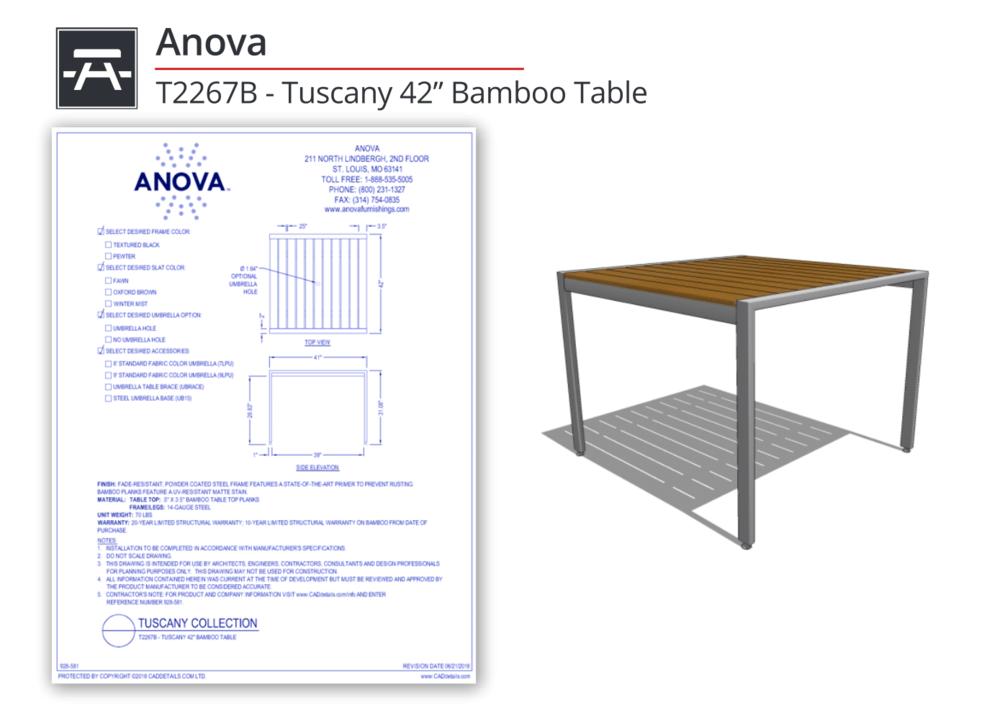 928-581 Tuscany Tables