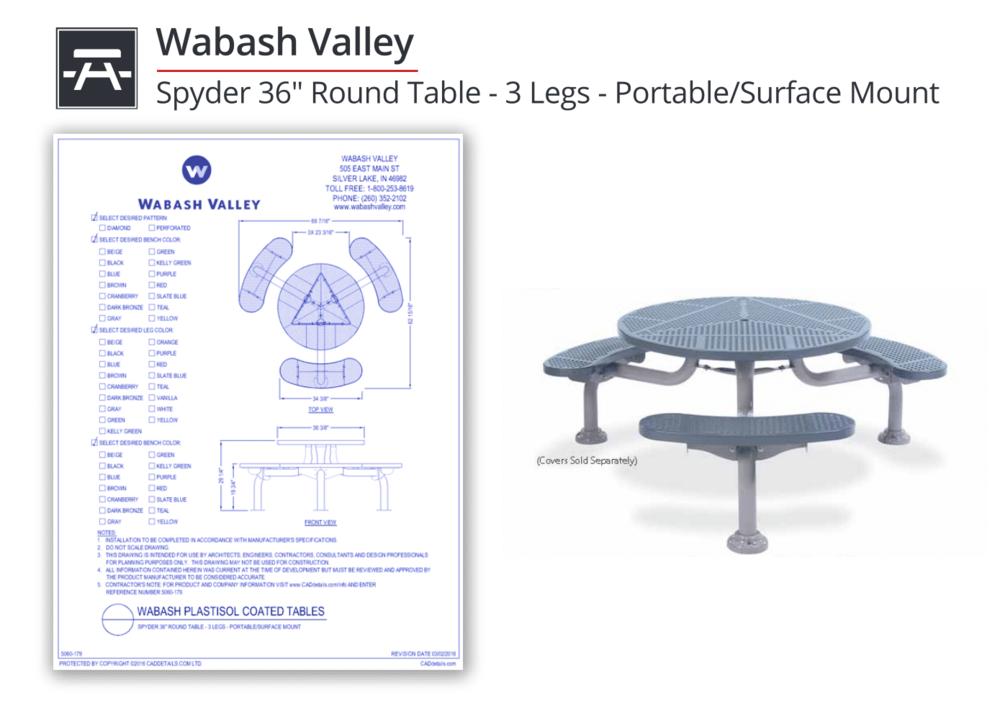 5060-179 Spyder Round Table