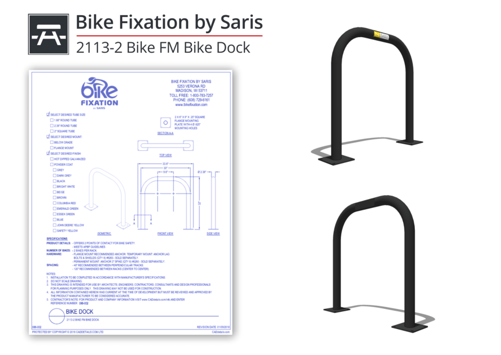086-002 Bike FM Bike Dock