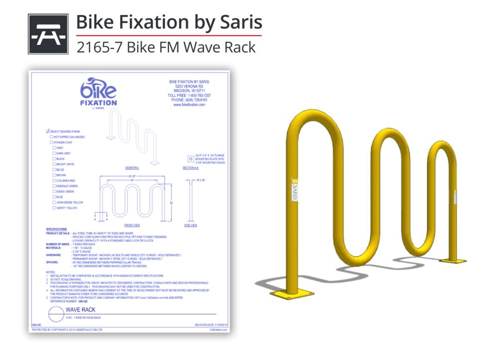 086-026 Bike FM Wave Rack