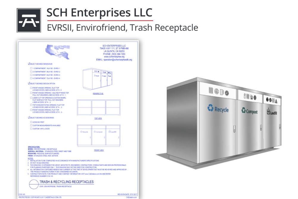 5100-145 Envirofriend II Trash & Recycling Combo