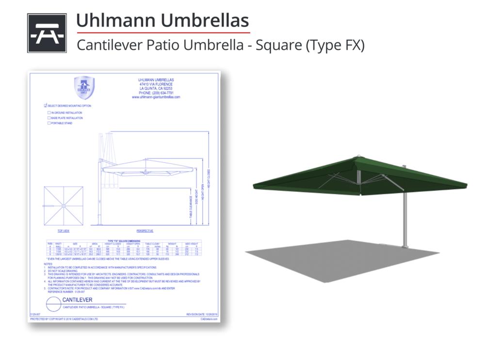 5129-007 Cantilever Patio Umbrellas