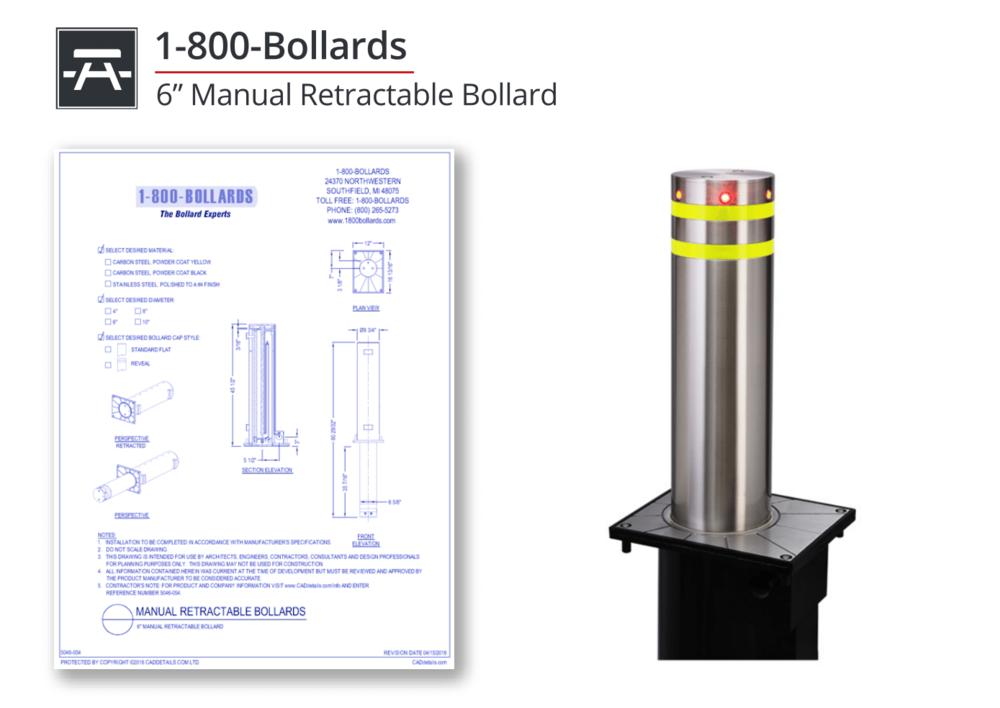 5046-054 Manual Retractable Bollard