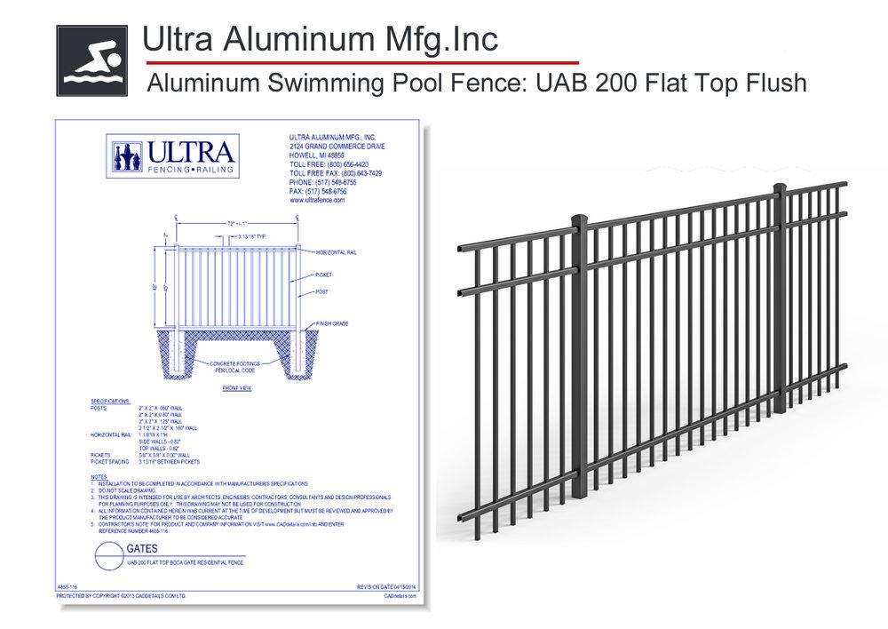 4855-116 UAB 200 Flat Top Flush Fence