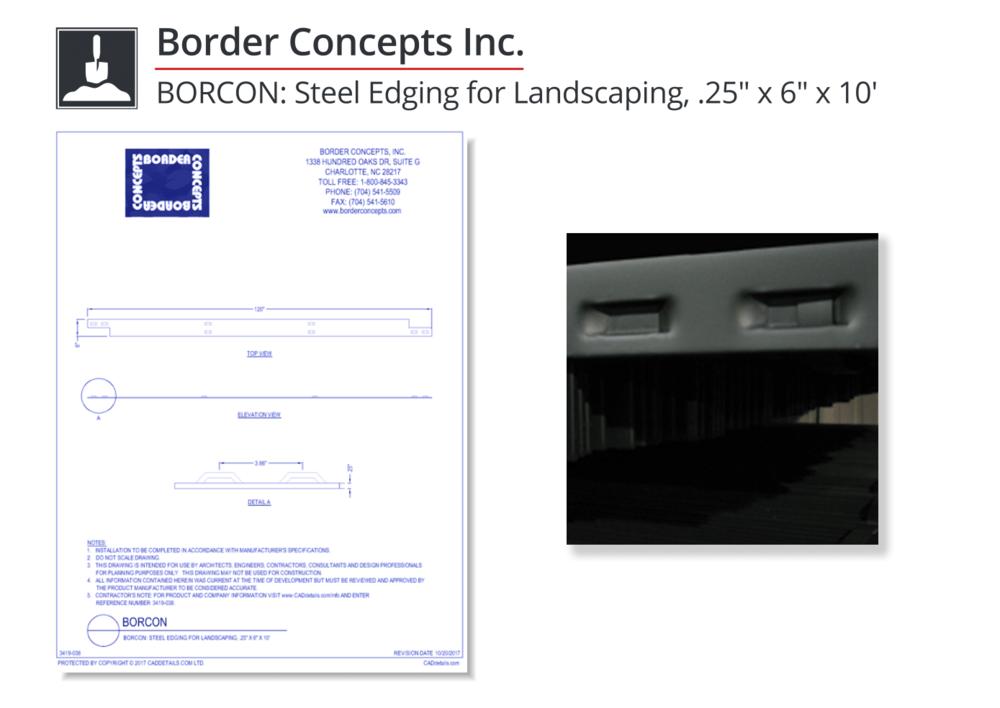 3419-038 Steel Edging for Landscaping