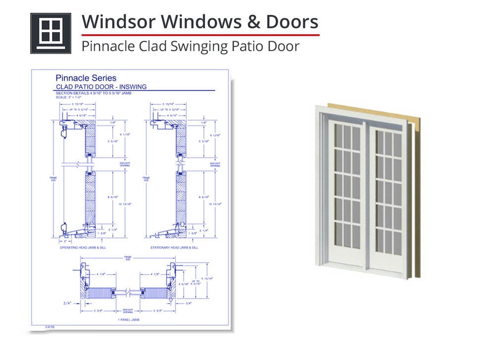 2153-029 Pinnacle Clad Swinging Patio Door