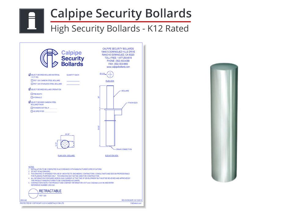 2905-056 K12 Rated Bollard