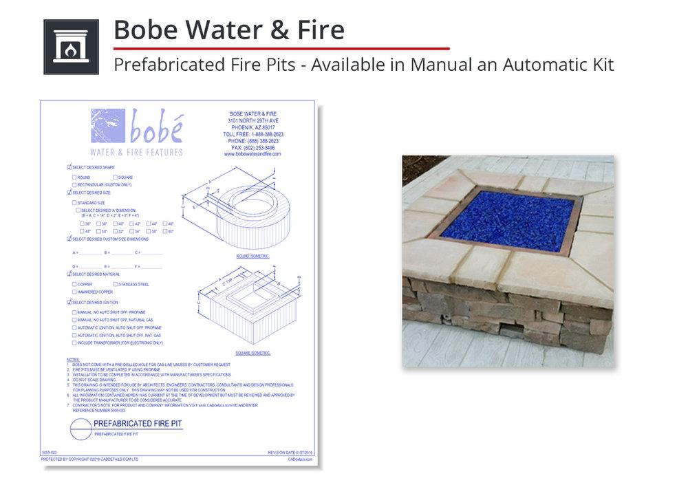 5059-023 Prefabricated Fire Pits