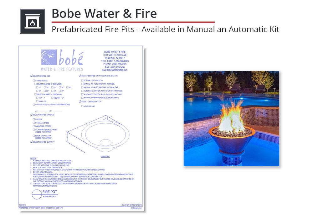 5059-019 Round Fire Pot