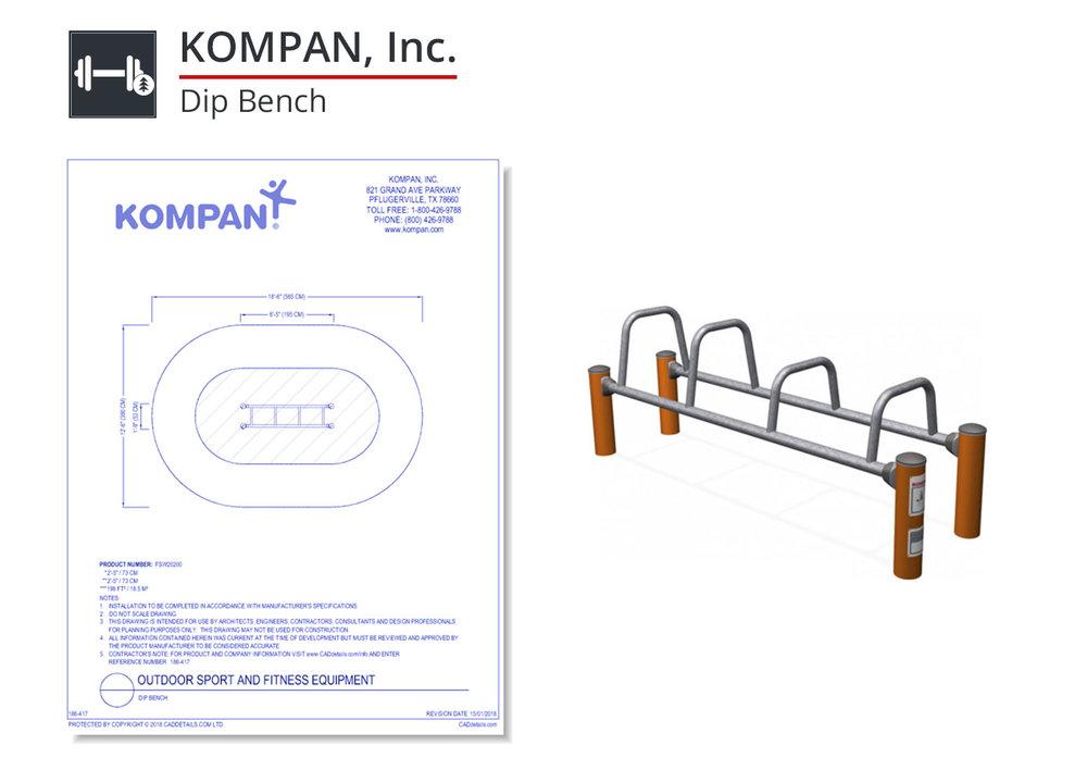 186-417 Dip Bench