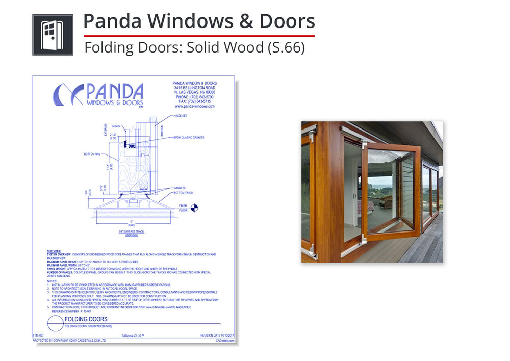 4115-007 Folding Doors: Solid Wood