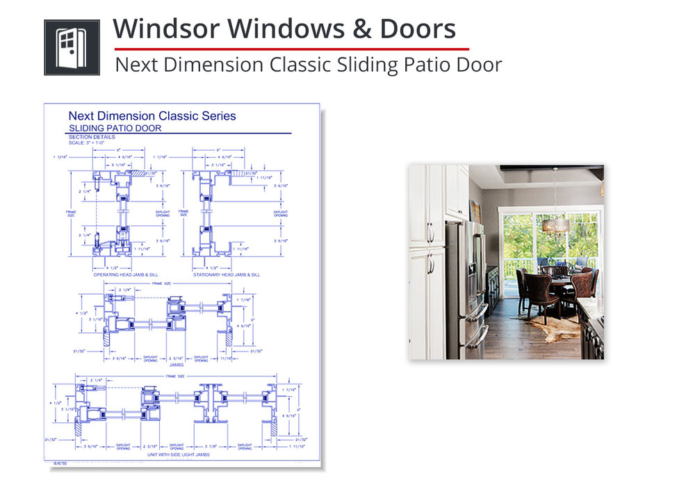 2153-312 Next Dimension Classic Sliding Patio Door