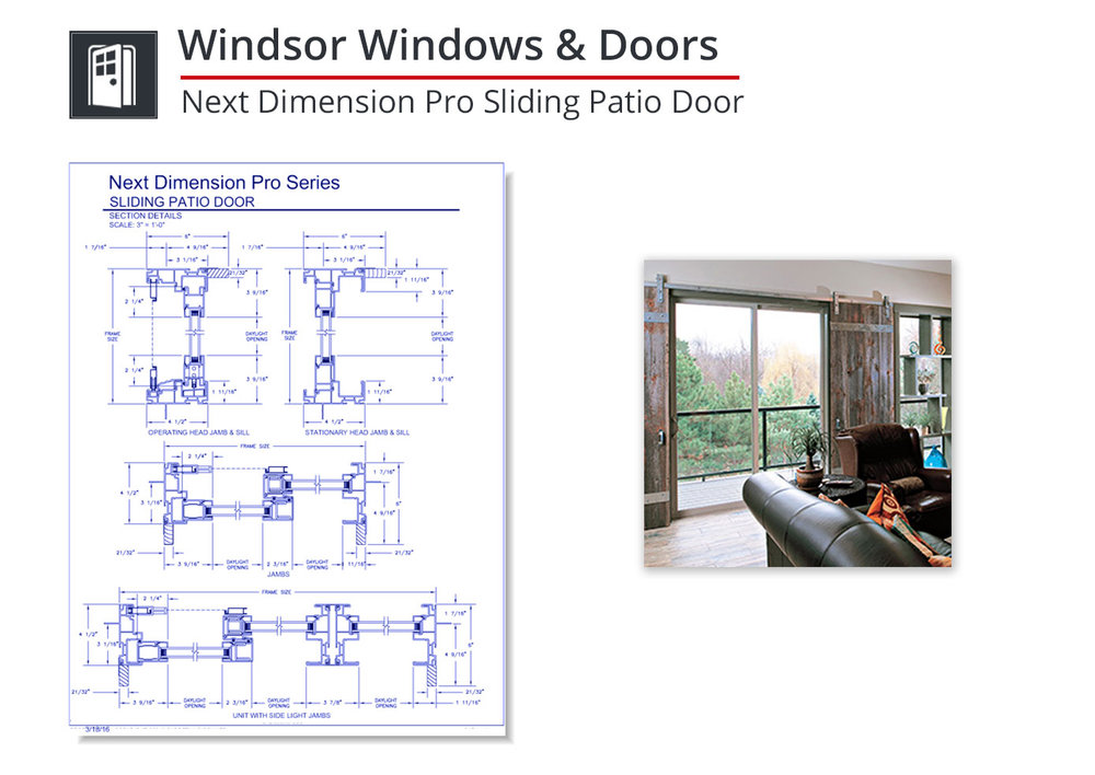 2153-283 Next Dimension Pro Sliding Door