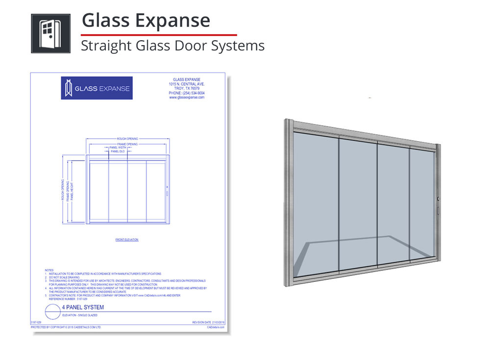 5187-005 Straight Glass Door Systems