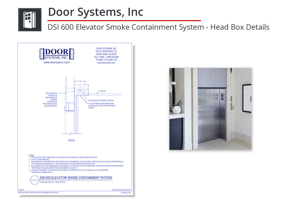 5063-001 Elevator Smoke Containment System
