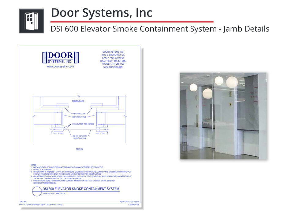 5063-004 Elevator Smoke Containment System
