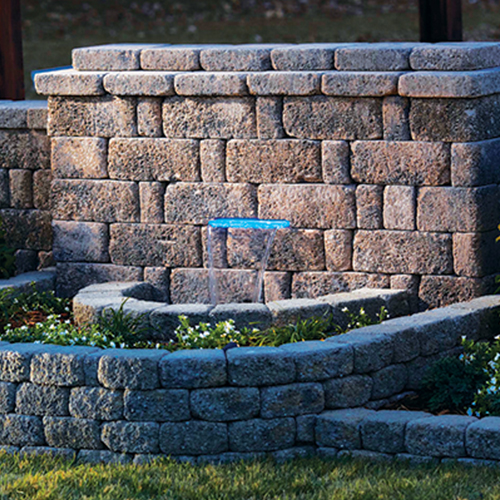 Outdoor Living Designs  Keystone Retaining Wall
