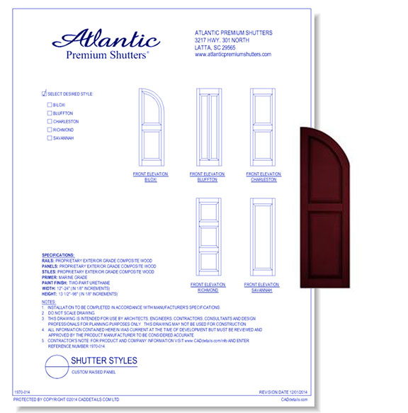 Architectural Shutter Styles