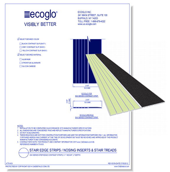 E20 Series Step Edge Contrast Strips