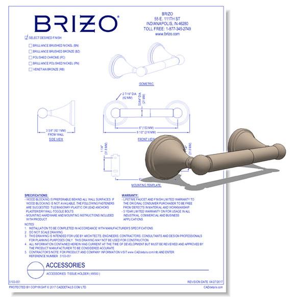 Baliza Tissue Holder