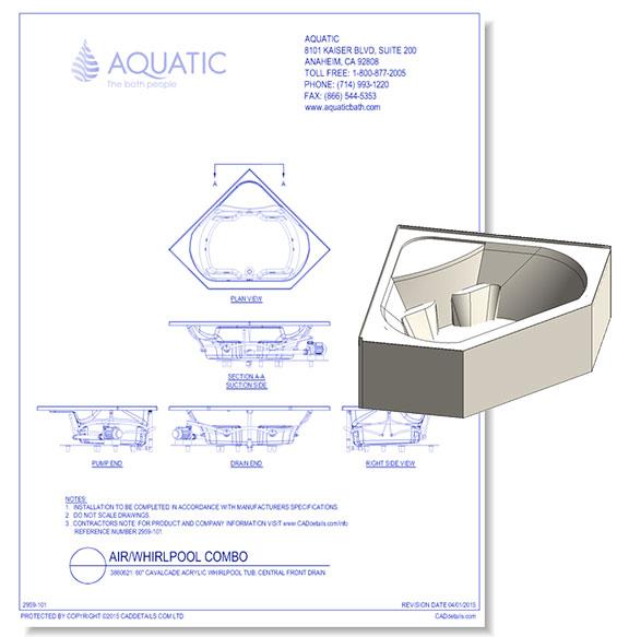 Cavalcade Acrylic Whirlpool Tub