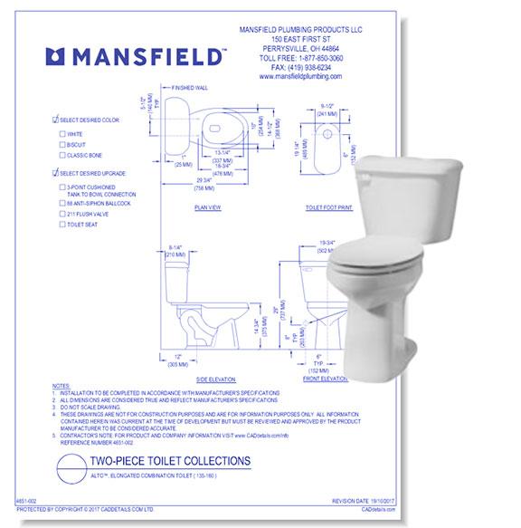 Alto Combination Toilets