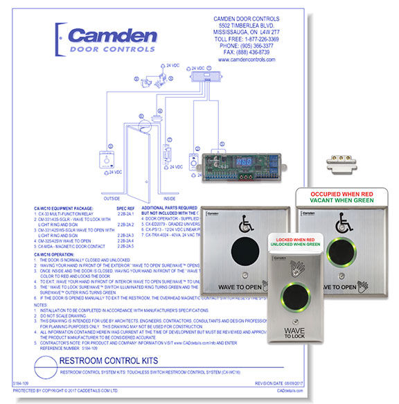 Restroom Control System Kits: Touchless Switch Resstroom Control System