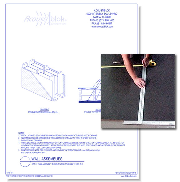 Acoustiblok Soundproofing Material: Wall Assembly