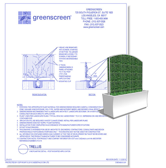 Hedge-A-Matic Planters with Trellis Panels