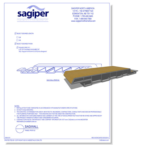 "Sagiwall: 6"" Channel Profile"