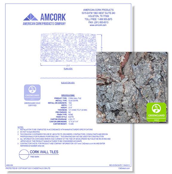 Cork Wall Tiles: Tree Bark