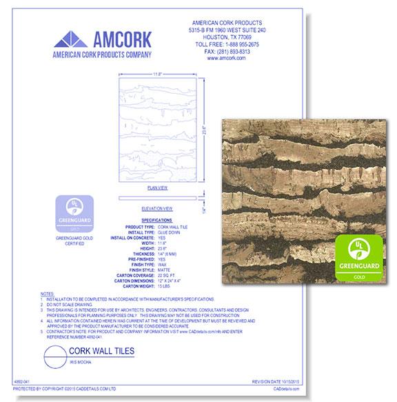 Cork Wall Tiles: Iris Mocha