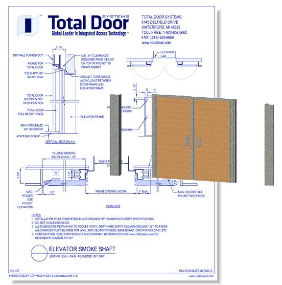ESP-PK180G - Elevator Smoke Shaft Pair