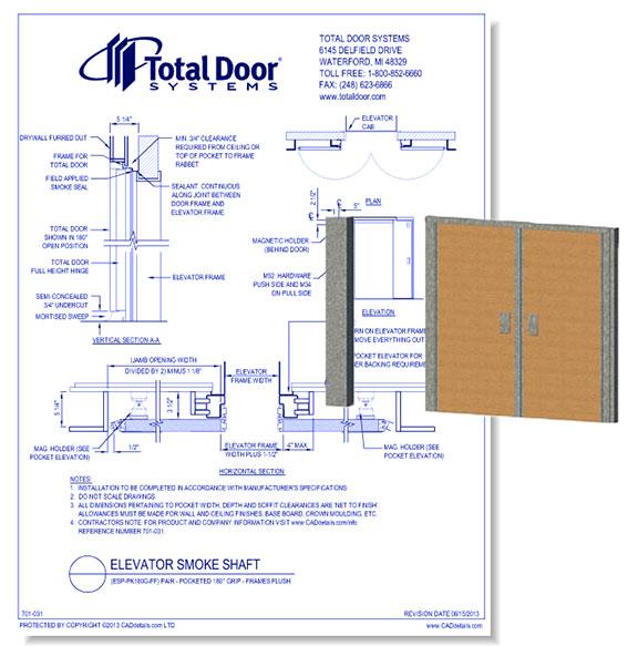 ESP-PK180G-FF- Elevator Smoke Shaft Pair