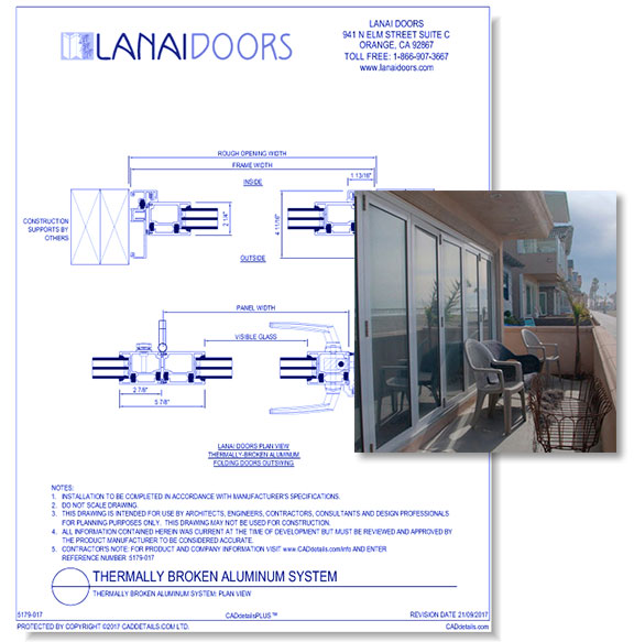 Thermally Broken Aluminum System - Plan View