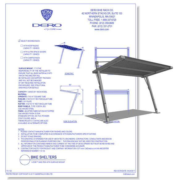 Vizor Shelter with Surface Mount