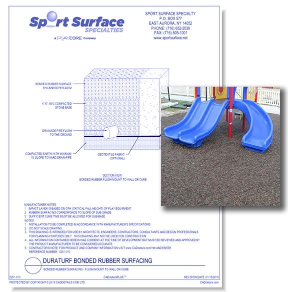 Bonded Rubber Surfacing