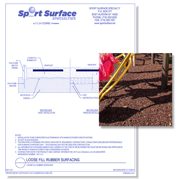 Loose Fill Rubber Surfacing