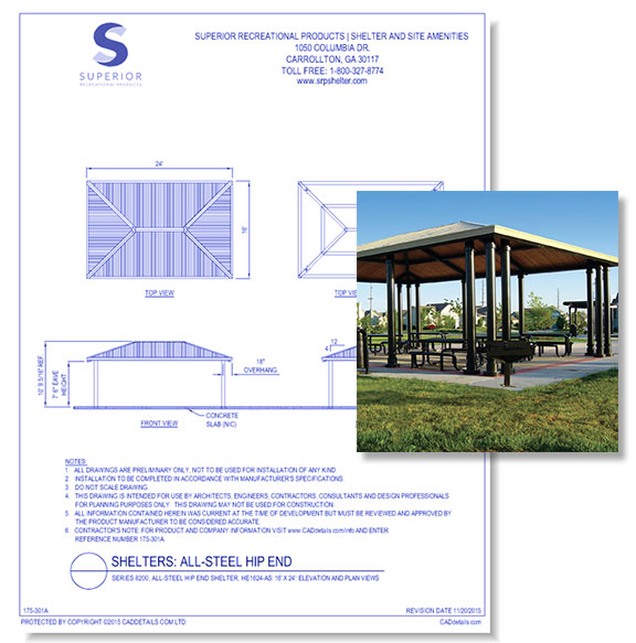 Shelters: All-Steel Hip End